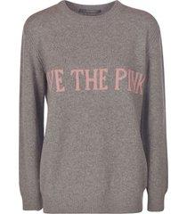 alberta ferretti embroidered woven sweater