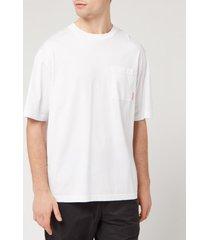 acne studios men's boxy fit t-shirt - optic white - xl