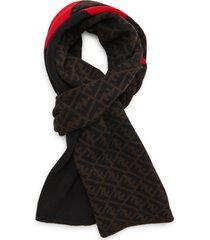 fendi men's ff wool scarf in black5 at nordstrom