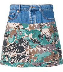 diesel short layered skirt - blue