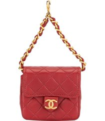chanel pre-owned 1992 mini pouch - red