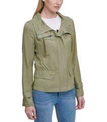 dkny mock-neck utility jacket