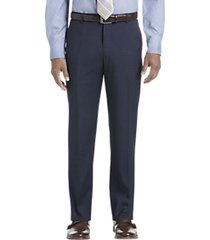 pronto uomo navy tic modern fit dress pants