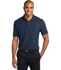 port authority k510 soil & stain-resistant polo shirt - navy