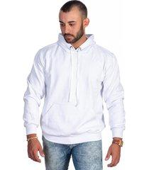 casaco moletom blusa de frio selten branco - kanui