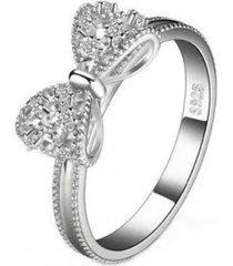 anillo cinta hermosa casual plata arany joyas