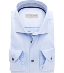 john miller heren overhemd lichtblauw met donkere accenten ml7 tailored fit