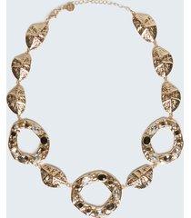 motivi collana girocollo in metallo e pietre donna giallo