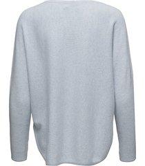 curved sweater gebreide trui blauw davida cashmere