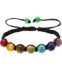 braccialetto con perline in 7 colori