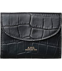 a.p.c. women's business card holder geneve - black