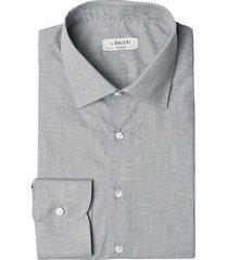 camicia da uomo su misura, albini, grigia, quattro stagioni | lanieri