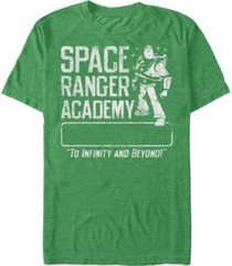 disney pixar men's buzz lightyear space ranger academy, short sleeve t-shirt