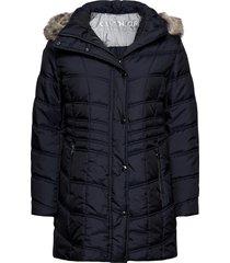 jacket wadding gevoerde lange jas blauw betty barclay