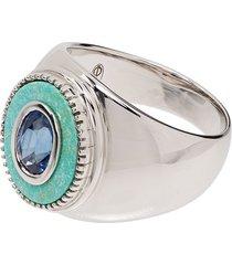 o thongthai saphhire stone ring - silver