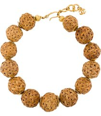 chanel pre-owned 1999 spheres short necklace - neutrals