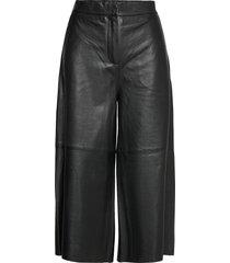 ceti trousers 12896 leather leggings/broek zwart samsøe samsøe
