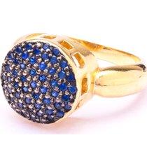 anel boca santa semijoias encantato azul ouro amarelo