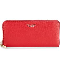 pebbled leather zip-aound long wallet