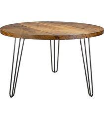 okrągły stół ze starego drewna dębowego