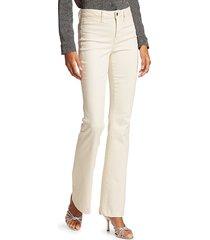l'agence women's joplin high-rise flare jeans - vintage white - size 31 (10)