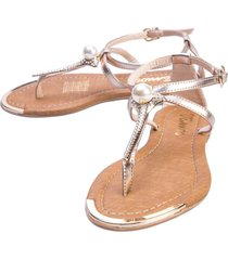 sandalia tres puntadas - rosa
