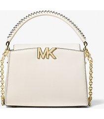 mk borsa a tracolla karlie piccola in pelle - crema chiaro (naturale) - michael kors
