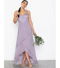 little mistress maxi lace chiffon dress maxiklänningar