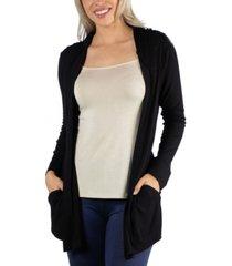 24seven comfort apparel long sleeve pocket hoodie cardigan