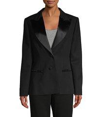 peak-lapel wool blazer