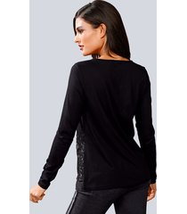 topp alba moda svart::grå::vit