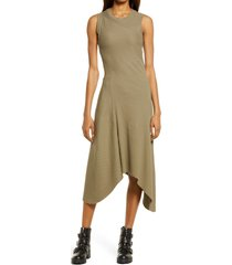 women's allsaints gia sleeveless rib maxi dress, size 8 us - green
