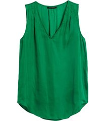 blusa inverted verde banana republic