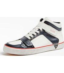 skórzane sneakersy ze średnią cholewką model statement