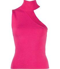 alice+olivia kiki cut-out knit vest - pink