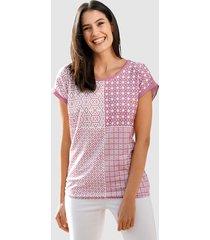 shirt laura kent lavendel::wit