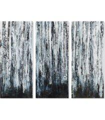 madison park birch forest 3-pc. gel-coated canvas print set