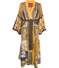 f.r.s for restless sleepers tiered robe dress - orange