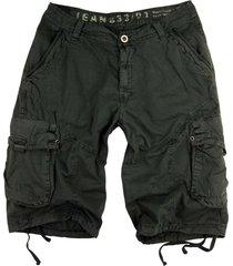 mens military-style dark grey cargo shorts #27s size 42