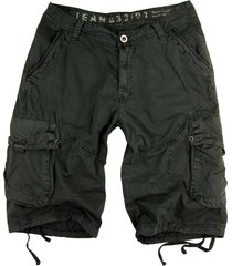 mens military-style dark grey cargo shorts #27s size 42
