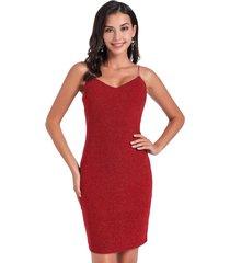 vestido fiesta lurex rojo nicopoly