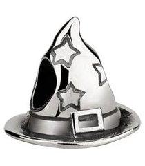 berloque joia em casa chapéu prata