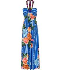abito a fascia con perle (blu) - bodyflirt boutique