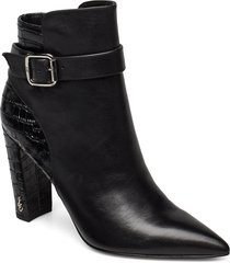 rita shoes boots ankle boots ankle boots with heel svart sam edelman