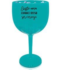 4 taã§as gin azul tiffany personalizada para live - azul - dafiti