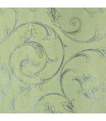 kit 3 rolos de papel de parede fwb fundo amarelo folhas prateada - amarelo/prata - dafiti