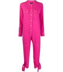 isabel marant button front jumpsuit - pink