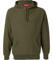supreme sequin arc hoodie - green