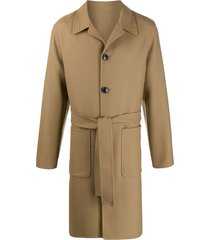 ami unstructured belted car coat - neutrals