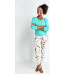 conjunto de pijama acuo longo formiguinha feminino